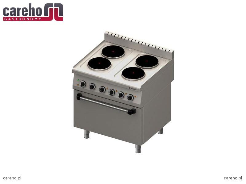 Kuchnia elektryczna 4 palnikowa z piekarnikiem elektrycznym 17,4 kW Stalgast   -> Kuchnia Elektryczna Z Piekarnikiem Elektrycznym
