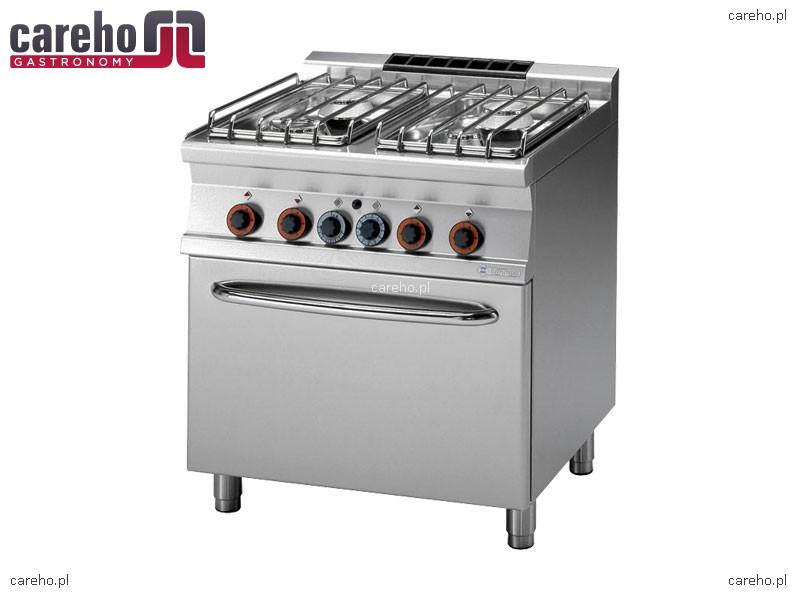Kuchnia gazowa 4 palnikowa z piekarnikiem gazowym GN 2 1 29,3kW Rm Gastro CF4   # Kuchnia Gazowa Amica Z Piekarnikiem Gazowym