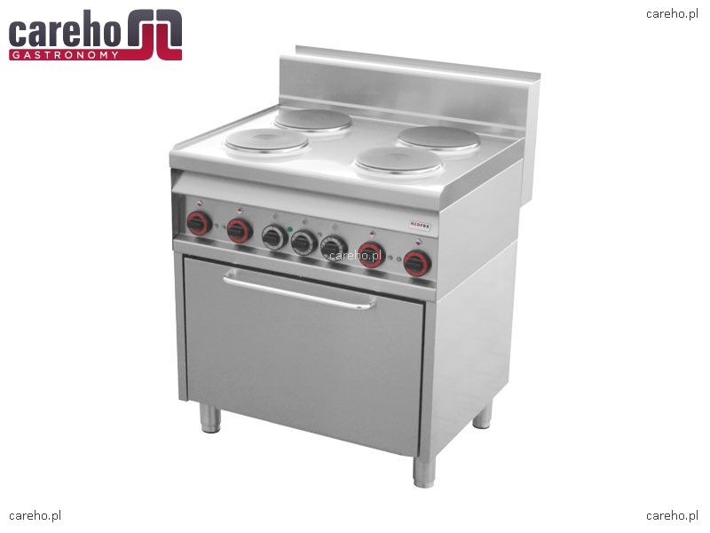 Kuchnia elektryczna 4 płytowa z piekarnikiem elektrycznym 10,81kW RedFox CF4   -> Kuchnia Elektryczna Z Piekarnikiem Elektrycznym