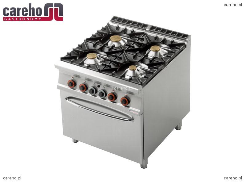 Rm Gastro Kuchnia Gazowa 4 Palnikowa Z Piekarnikiem Gazowym Gn 21 365kw Cf4 98g