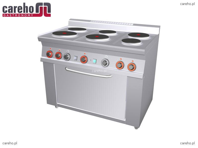 Kuchnia elektryczna 6 płytowa z piekarnikiem 11,62kW Rm