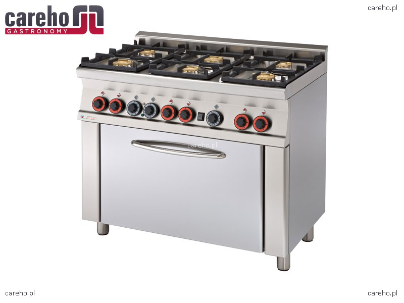 Kuchnia gazowa 6 palnikowa z piekarnikiem 27kW Rm Gastro CF6 610G  Kuchnie g   -> Kuchnia Gazowa Moc