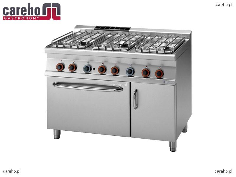 Kuchnia gazowa 6 palnikowa z piekarnikiem elektrycznym GN   -> Kuchnie Gazowe Do Zabudowy Z Piekarnikiem Elektrycznym