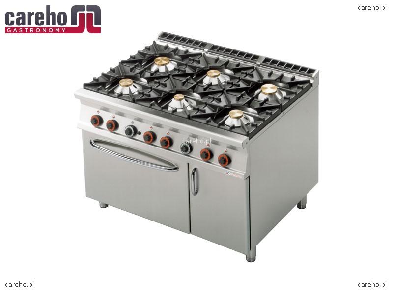 Rm Gastro Kuchnia Gazowa 6 Palnikowa Z Piekarnikiem Gazowym Gn 21 I Szafką 535kw Cf6 912gv