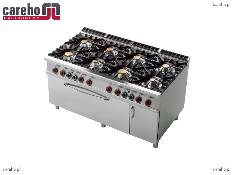 Kuchnia gazowa 8 palnikowa z piekarnikiem gaz 3x GN 1 1 i   -> Kuchnia Gazowa Z Piekarnikiem