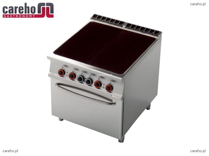 Kuchnia elektryczna ceramiczna 4 płytowa z piekarnikiem GN   -> Kuchnia Elektryczna Ceramiczna