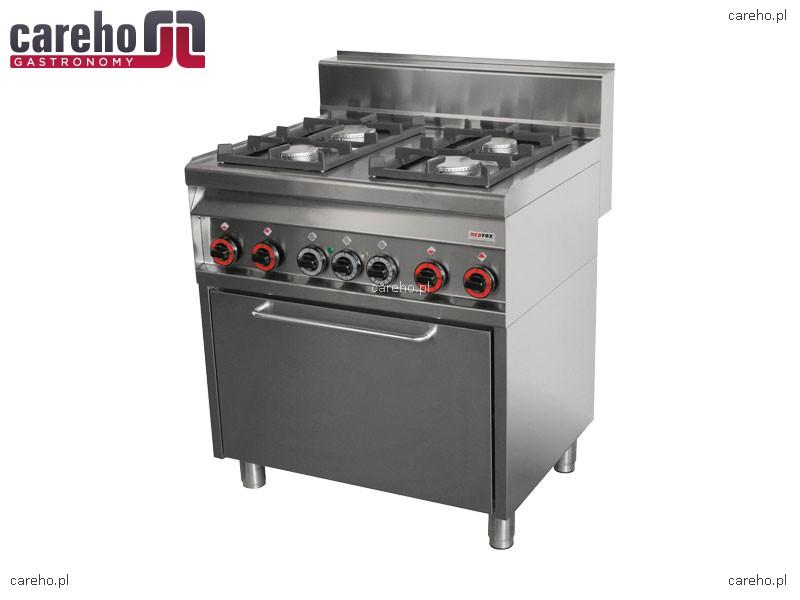 Kuchnia gazowa 4 palnikowa z piekarnikiem 22kW RedFox CFE4   -> Kuchnia Gazowa Z Piekarnikiem