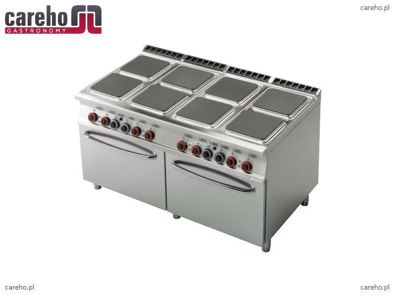 Kuchnia elektryczna 8 płytowa z piekarnikiem 2x GN 2 1 45,4kW Rm Gastro CFQ8   -> Kuchnia Elektryczna Z Piekarnikiem Cena