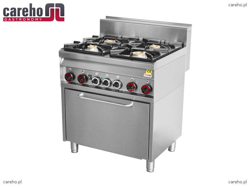 Kuchnia gazowa 4 palnikowa z piekarnikiem 22kW RedFox CF4   -> Kuchnia Gazowa Z Piekarnikiem