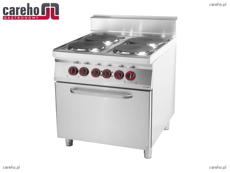 Kuchnia elektryczna 4 płytowa z piekarnikiem elektrycznym 20kW RedFox CF 90   -> Kuchnia Elektryczna Z Piekarnikiem Elektrycznym