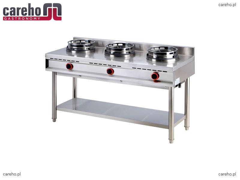 Kuchnia gazowa WOK 3 palnikowa 30kW RedFox K 3G  Kuchnie gazowe -> Kuchnia Gazowa Wok