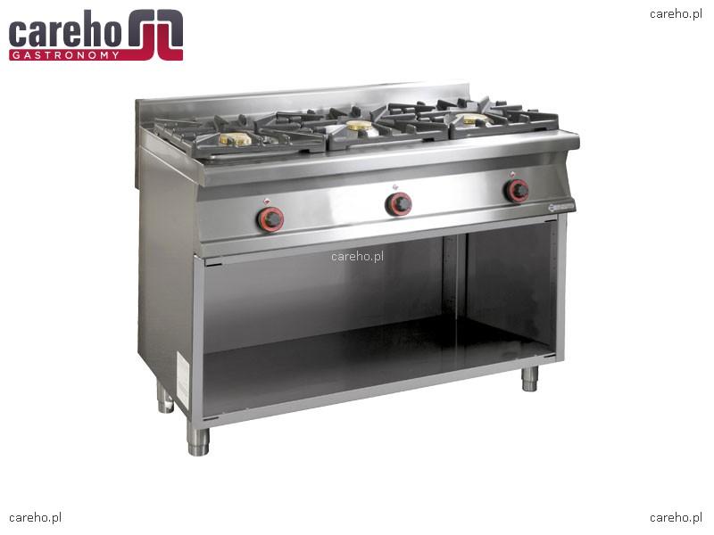 Kuchnia gazowa WOK 3 palnikowa z szafką 30kW Rm Gastro PC3 612GWOK  Kuchnie   -> Kuchnia Gazowa Moc