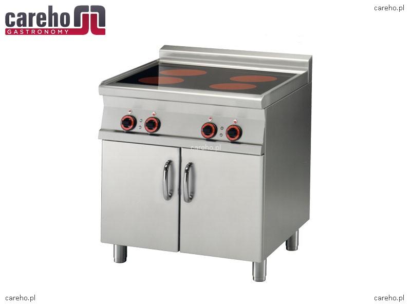 Kuchnia elektryczna ceramiczna 4 płytowa z szafką 10kW Rm   -> Kuchnia Elektryczna Wymiary
