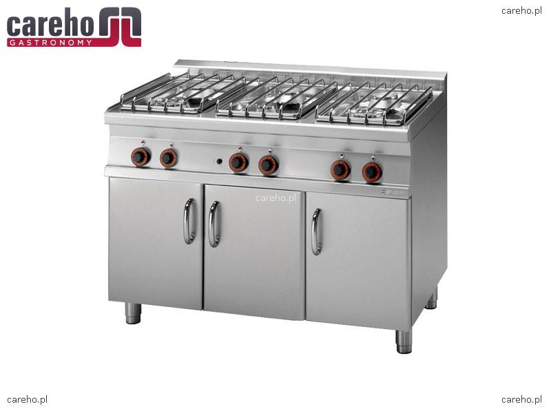 Kuchnia gazowa 6 palnikowa z szafką 35kW Rm Gastro PC 712G P  Kuchnie gazowe -> Kuchnia Gazowa Moc