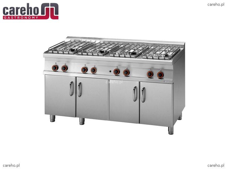 Kuchnia gazowa 8 palnikowa z szafką 44kW Rm Gastro PC 716G