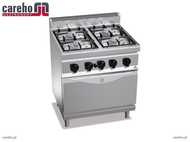 Kuchnia gazowa 4 palnikowa z piekarnikiem elektrycznym GN   -> Kuchnia Gazowa Z Piekarnikiem