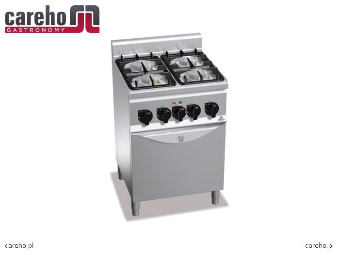 Kuchnia gazowa 4 palnikowa z piekarnikiem elektrycznym GN   -> Kuchnie Gazowe Do Zabudowy Z Piekarnikiem Elektrycznym