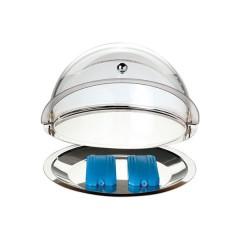 Witrynka okrągła ∅380mm z tacą i wkładami chłodzącymi