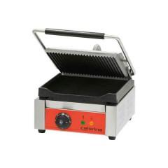 Kontakt grill pojedynczy ryflowany/gładki z powłoką polimerową 1,8kW