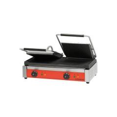 Kontakt grill podwójny ryflowany/gładki z powłoką polimerową 3,6kW