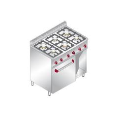 Kuchnia Gazowa 6 Palnikowa Z Piekarnikiem Elektrycznym 18 6kw I Z