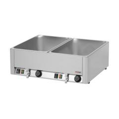 Bemar elektryczny podwójny z kranem GN 1/1 - 150mm