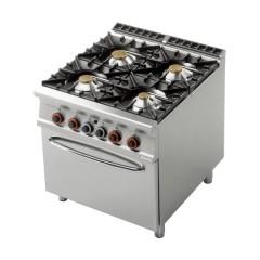 Rm Gastro Kuchnia Gazowa 4 Palnikowa Z Piekarnikiem Elektrycznym Gn 21 347kw Cf4 98ge