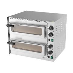 Piec do pizzy dwupoziomowy 2x Ø350mm 3,4kW