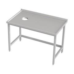 Stół z otworem na odpadki
