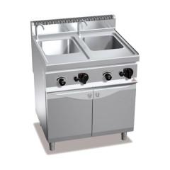Gazowe urządzenie do gotowania makaronu 2x30l 20kW z szafką
