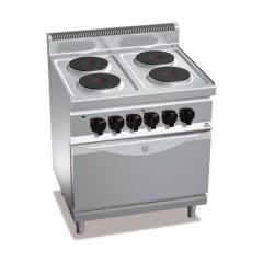 Kuchnia elektryczna 4-płytowa z piekarnikiem GN 2/1 17,9kW E7P4+FE