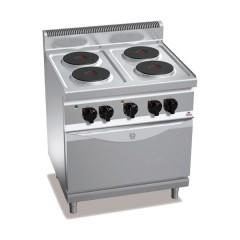 Kuchnia elektryczna 4-płytowa z piekarnikiem GN 1/1 13,9kW E7P4+FE1