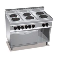 Kuchnia elektryczna 6-płytowa z piekarnikiem GN 2/1 i szafką 23,1kW E7P6+FE