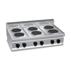Kuchenka elektryczna 6-płytowa 15,6kW