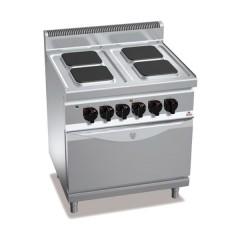 Kuchnia elektryczna 4-płytowa z piekarnikien GN 2/1 17,9kW E7PQ4+FE