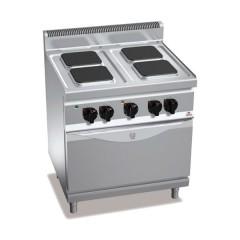 Kuchnia elektryczna 4-płytowa z piekarnikiem GN 1/1 13,9kW E7PQ4+FE1
