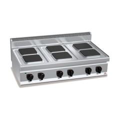 Kuchnia elektryczna 6-płytowa 15,6kW