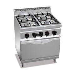 Kuchnia gazowa 4-palnikowa z piekarnikiem elektrycznym 29kW G7F4PW+FE