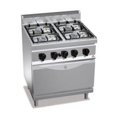 Kuchnia gazowa 4-palnikowa z piekarnikiem elektrycznym GN 1/1 25kW G7F4PW+FE1
