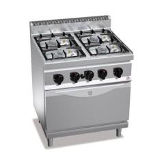 Kuchnia gazowa 4-palnikowa z piekarnikiem GN 1/1 25,5kW