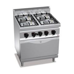Kuchnia gazowa 4-palnikowa z piekarnikiem GN 2/1 29,3kW G7F4PW+FG