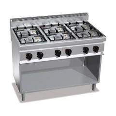 Kuchnia gazowa 6-palnikowa z szafką 33,5kW G7F6MPW