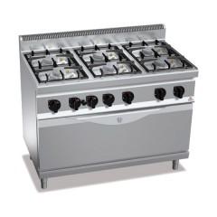 Kuchnia gazowa 6-palnikowa z piekarnikiem gazowym 45,5kW G7F6PW+T