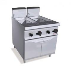 Gazowe urządzenie do gotowania makaronu 2x40l 26kW z szafką