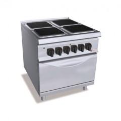 Kuchnia elektryczna 4-płytowa z piekarnikiem GN 2/1 23,5kW SE9PQ4+FE