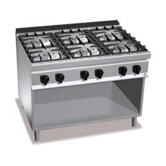 Kuchnia gazowa 6-palnikowa z szafką 48kW