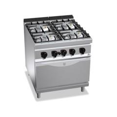 Kuchnia gazowa 4-palnikowa z piekarnikiem GN 1/1 36kW