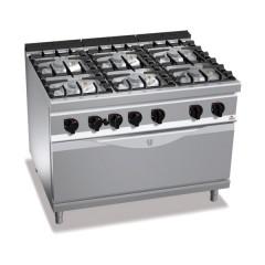 Kuchnia gazowa 6-palnikowa z piekarnikiem 60kW
