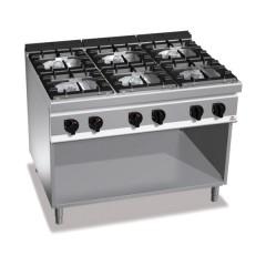 Kuchnia gazowa 6-palnikowa z szafką 53,5kW