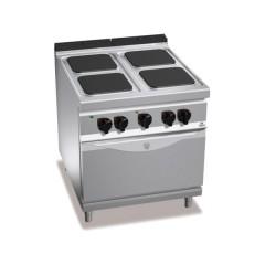 Kuchnia elektryczna 4-płytowa z piekarnikiem GN 2/1 21,5kW E9PQ4+FE